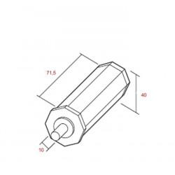 Medidas contera pvc espiga metálica 10 milímetros eje 40 milímetros