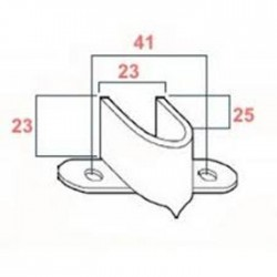 Medidas soporte persianas tipo pincho
