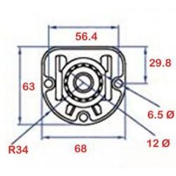 Medidas soporte reforzado rodamiento persiana