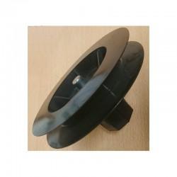 Polea pvc con espiga 120-140 milímetros o eje 40 cinta 9-14-16 milímetros