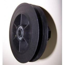 Polea pvc rodamiento 120-140 milímetros eje 40 cinta 9-14-16 milímetros