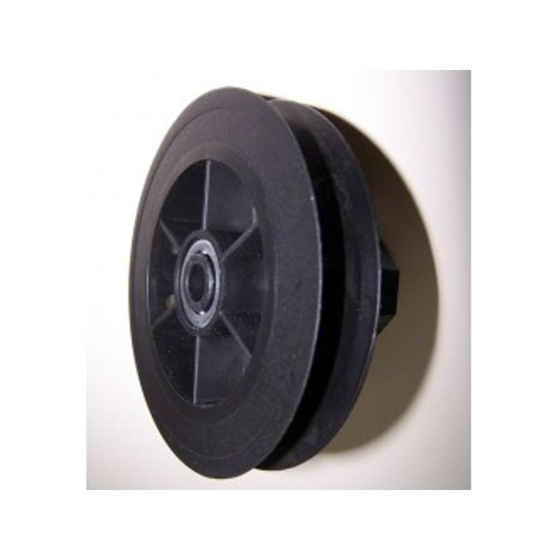 Polea pvc rodamiento 120-140 milímetros o eje 40 cinta 18-20 milímetros