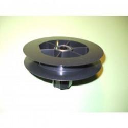 Polea pvc con rodamiento 120-140 milímetros o eje 40 cinta 18-20 milímetros