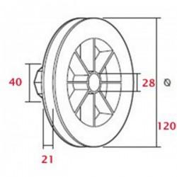 Polea rodamiento 120 milímetros o eje 40 cinta 18-20 milímetros