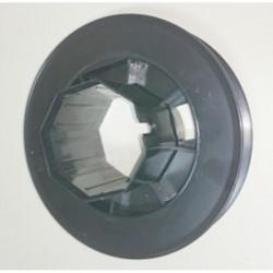 Polea plástico pasante para eje octogonal 60