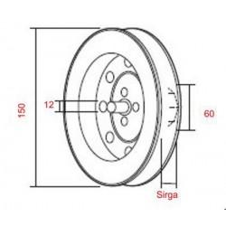 Medidas disco metálico 150 para sirga