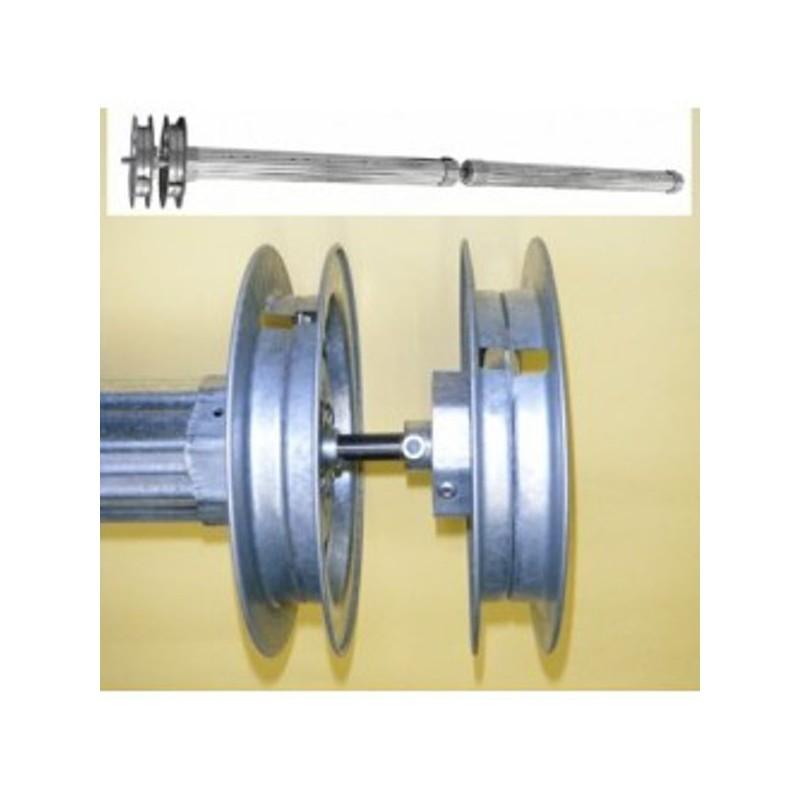 Kit eje combinado dos persianas independientes cinta 22 milímetros