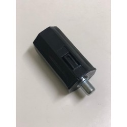 Contera Pvc rodamiento espiga metálica 12 milímetros eje 40 milímetros