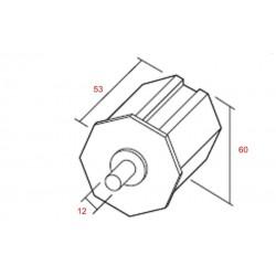 Medidas contera pvc eje 60 milímetros
