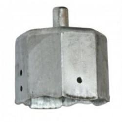 Contera metálica con espiga eje octogonal 60 milímetros