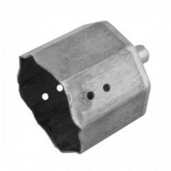 Contera metálica con espiga para eje octogonal 60 milímetros