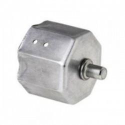 Contera metálica reforzada con espiga eje octogonal 60 milímetros