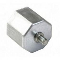 Contera metálica reforzada espiga eje octogonal 60 milímetros