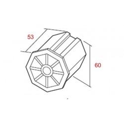 Medidas contera pvc espiga regulable eje 60 milímetros