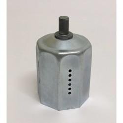 Contera reforzada con espiga de 12 milímetros de diámetro eje de 60 milímetros