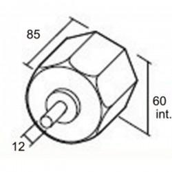 Medidas contera reforzada con espiga de 12 milímetros de diámetro eje de 60 milímetros