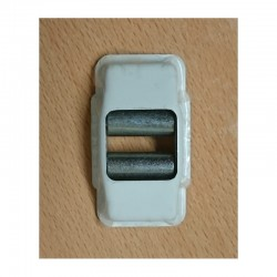 Guía-cintas todo metal con embellecedor para cinta de 22 milímetros