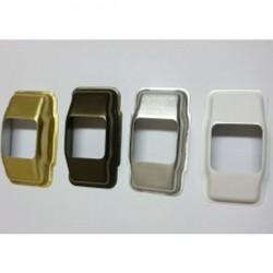 Embellecedor guía-cintas todo metal para cinta de 22 milímetros