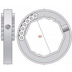 Medidas anillo eje 60