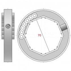 Medidas anillo eje 70