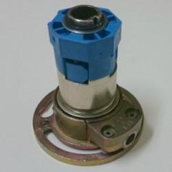Vista frontal mecanismo cardan engranaje serie T