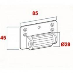 Esquema rodillo separador del cajón a la persiana