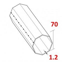 medidas eje reforzado de 70 milímetros octogonal