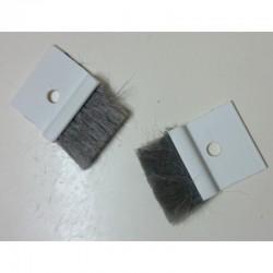 Cepillos anti-frió y viento para pasa-cintas 22 milímetros