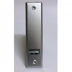 Recogedor cintas 22 milímetros empotrable grande metal con embellecedor