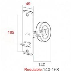 Medidas recogedor cinta 22 milímetros empotrable grande metal con embellecedor