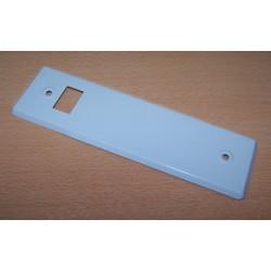Embellecedor metálico color blanco 220 x 66 milímetros