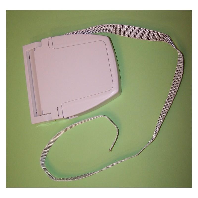 Recogedor cinta 20 milímetros pvc exterior abatible