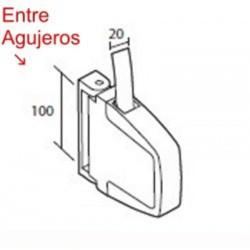 Medidas recogedor cinta 20 milímetros pvc exterior abatible