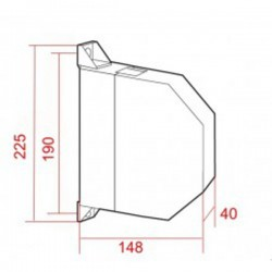 Medidas recogedor cinta 22 milímetros pvc exterior abatible