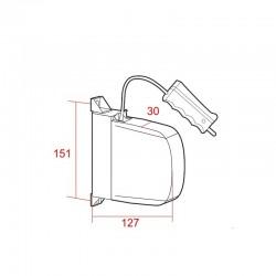 Medidas recogedor cordón exterior abatible con empuñadura pvc