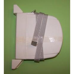 Recogedor de cinta con ancho de 18 milímetros.