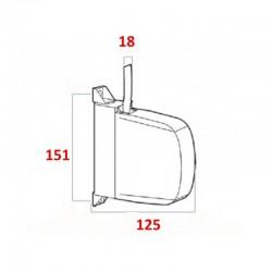 medidas recogedor de cintas de 18 milímetros.