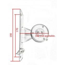 medida del recogedor metálico cinta de 22 milímetros.
