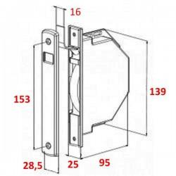 Medidas recogedor empotrable 16 milímetros ancho de cinta
