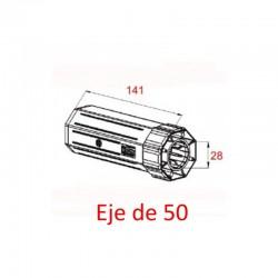 Contera pvc rodamiento eje octogonal 60-50 milímetros