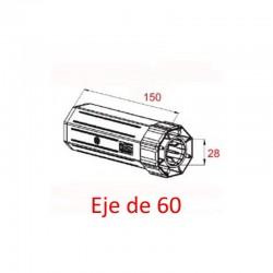Contera plástico pvc rodamiento eje octogonal 60 milímetros