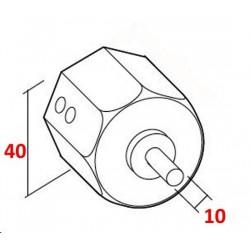 medida contera todo metal para eje de 40 milímetros