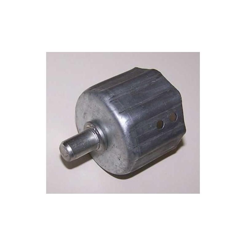 Contera metálica exterior con espiga 10 milímetros para eje octogonal  40 milímetros