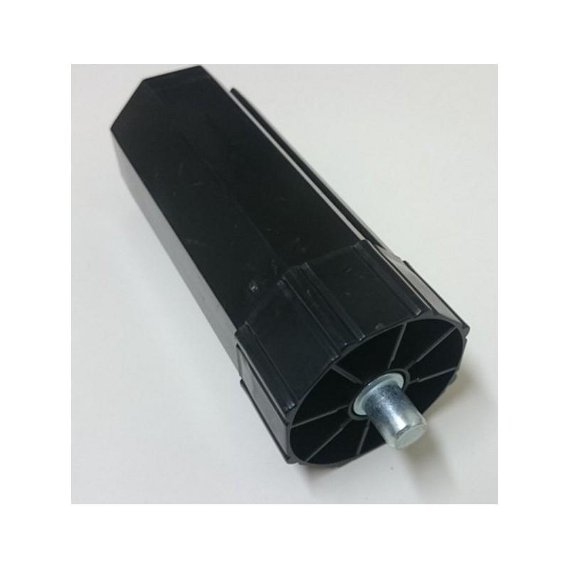 Contera Pvc larga con espiga metálica eje octogonal 60 milímetros