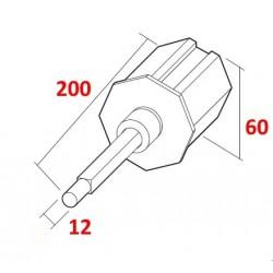 medidas cápsula regulable telescópica reforzada para eje de 60
