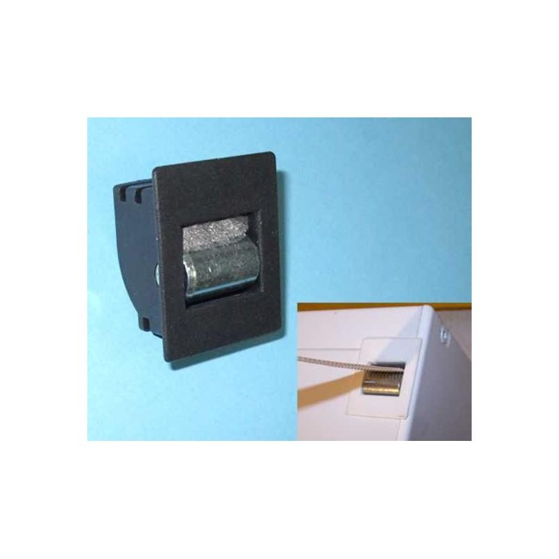 Guía-cintas mono-block pvc frontal para cinta 20 milímetros