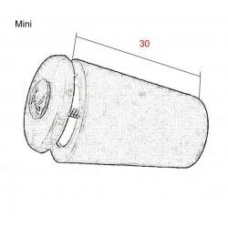 Tope persiana gris tamaño mini