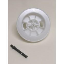 Polea pvc cinta 22 milímetros espiga regulable eje 60 milímetros