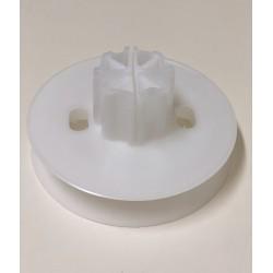 Polea pvc con espiga regulable eje 60 milímetros