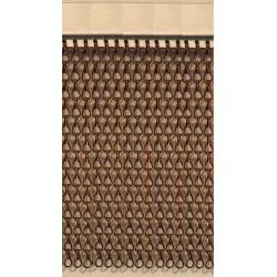 Cortina cadena aluminio marrón